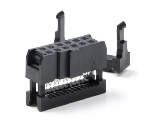 14 way connector including strain relief