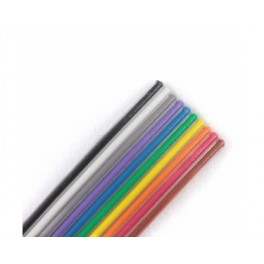 14 wire flat ribbon cable rainbow colors (10cm)