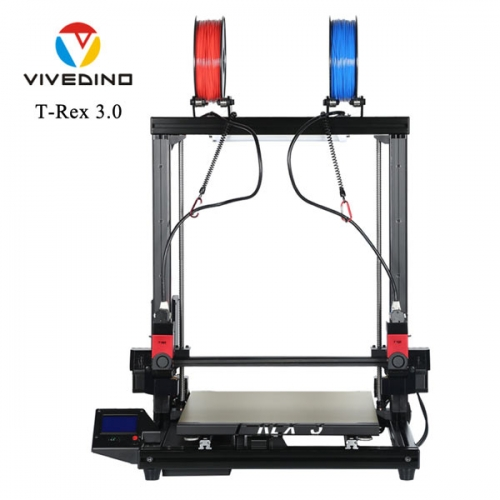 Vivedino Formbot T-Rex 3.0 - 400x400x500mm - Stampante 3D Dual-extruder con incisore laser (opzionale)