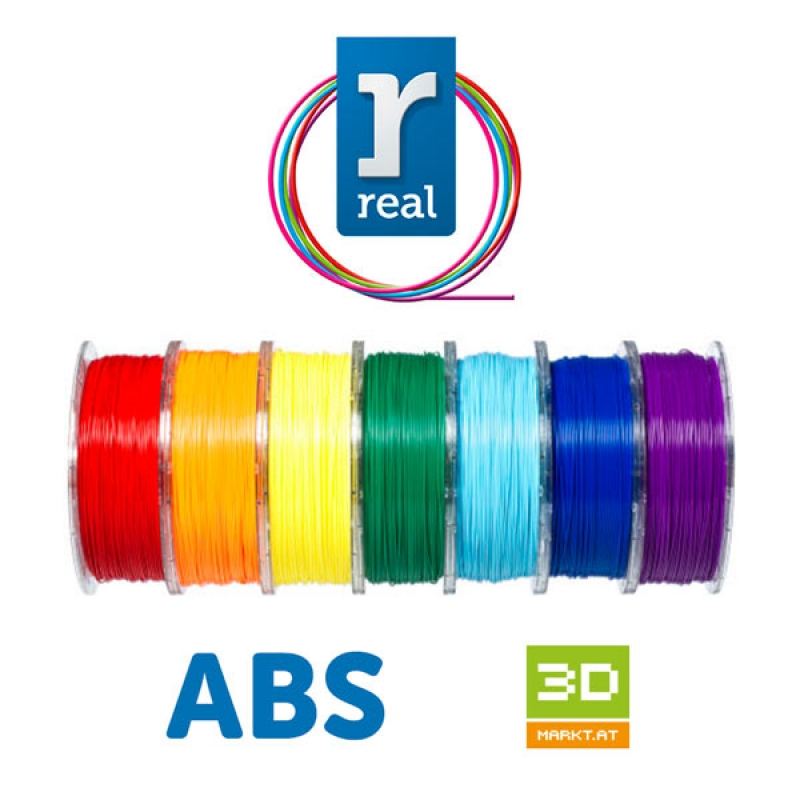 ABS - Starters kit Real (1,75mm / 1 kg / 8 colori)