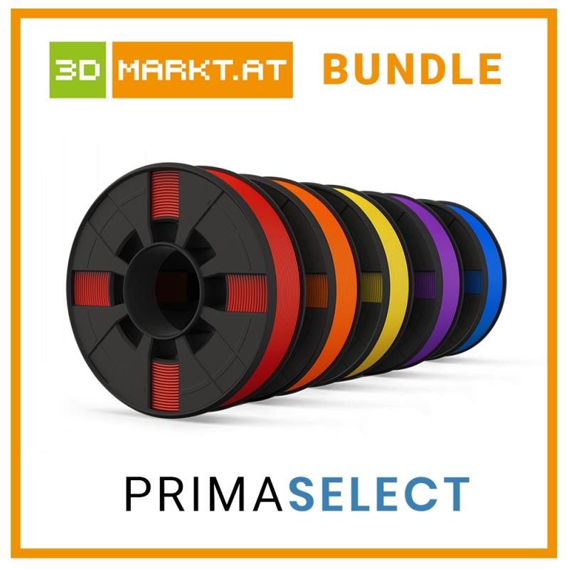 Bundle medium 3.75Kgs PrimaSelect PLA 5x750gr monocolor